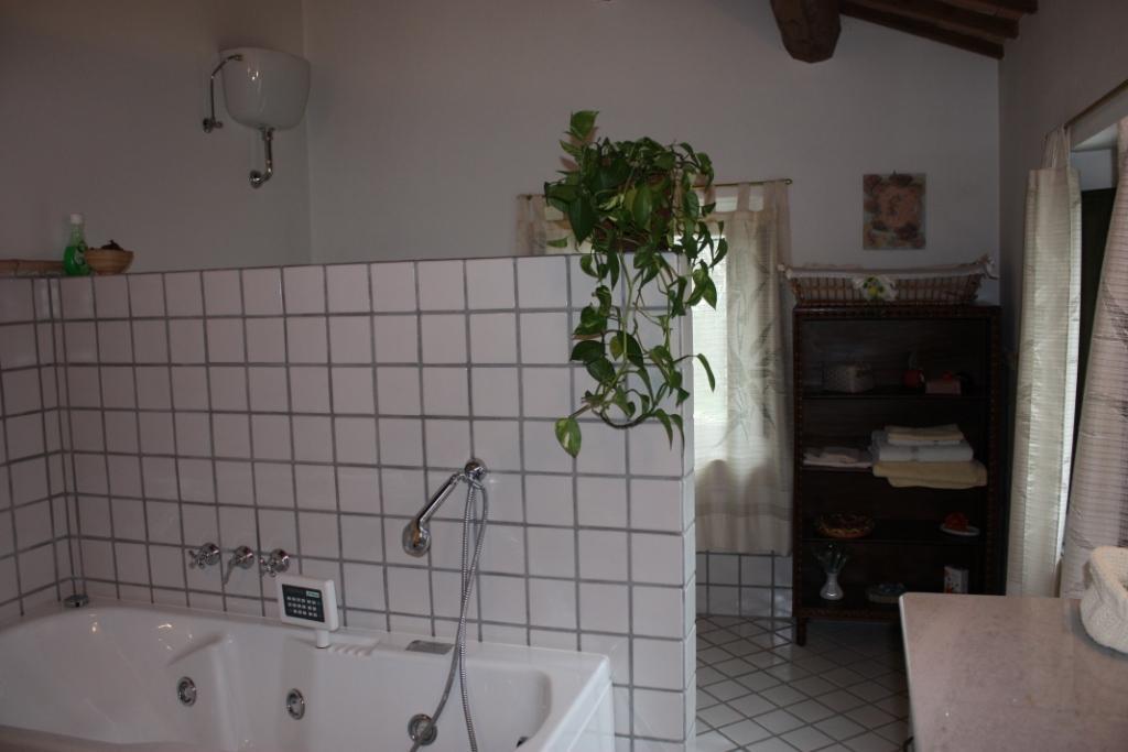 Il bagno e la vasca idromassaggio a disposizione degli ospiti